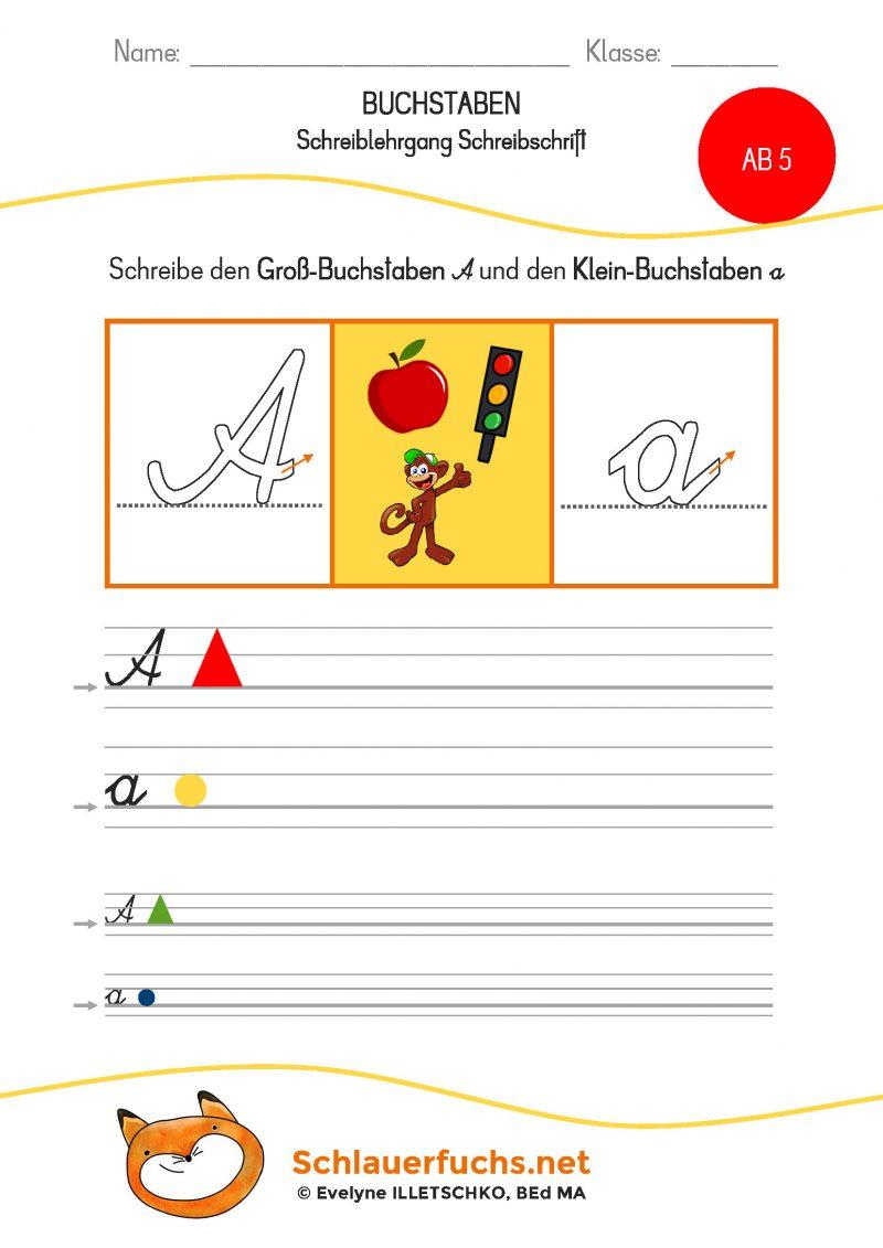 Schreiblehrgang Schreibschrift AB 5 Aa mittel klein
