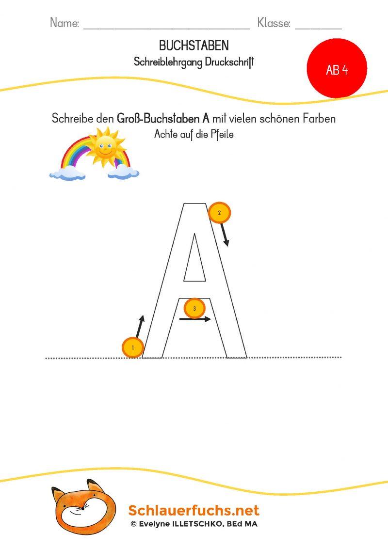 Schreiblehrgang Druckschrift AB 4 Aa groß_Seite_1