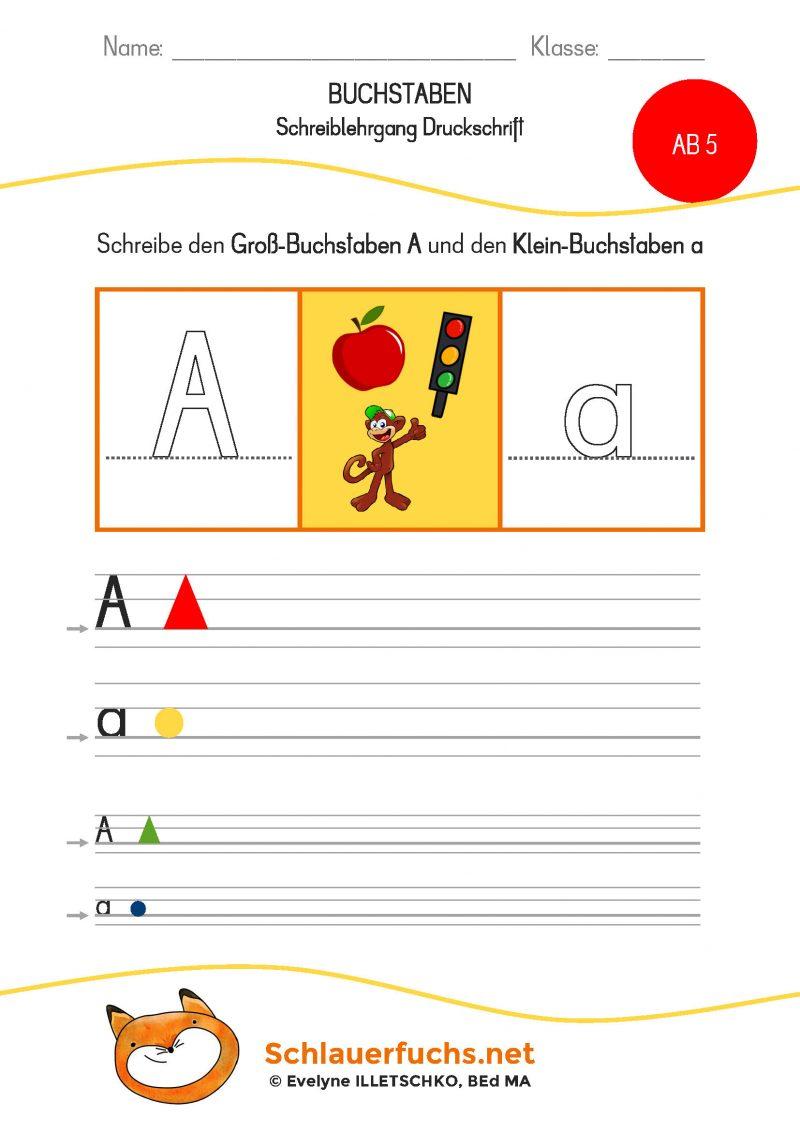 Schreiblehrgang Druckschrift AB 5 Aa mittel klein