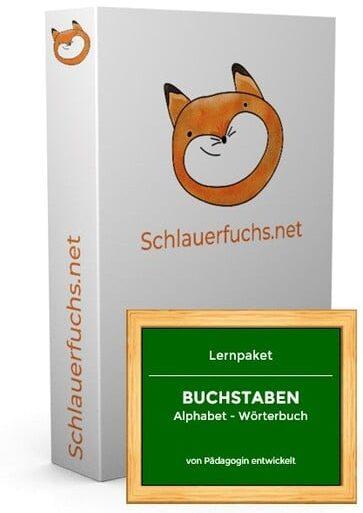 Box (Lernpaket BUCHSTABEN Alphabet - Wörterbuch) NEU
